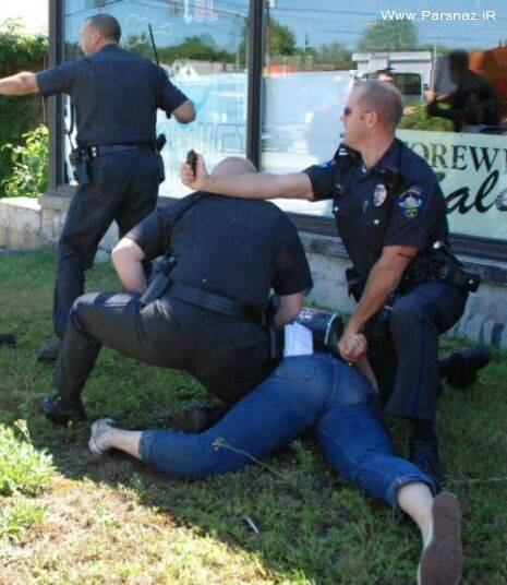 www.parsnaz.ir - عکس های شکسته شدن پای یک دختر در درگیری با پلیس