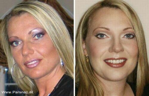 عکس های دیدنی از معجزه خانم ها قبل و بعد از آرایش