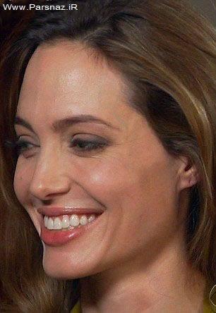 عکس هایی از چهره بدون آرایش آنجلینا جولی در یك برنامه