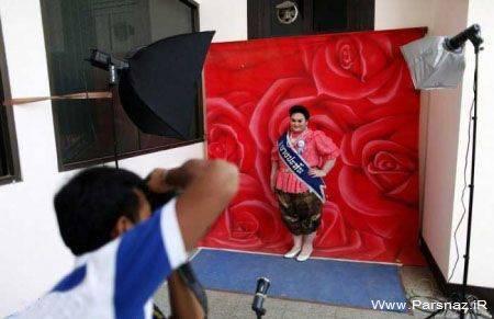 مسابقه ملکه های زیبایی برای خانمهای با وزن 80کیلو +عکس
