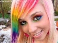 عکسهای دختری که از رنگین کمان هم رنگی تر است