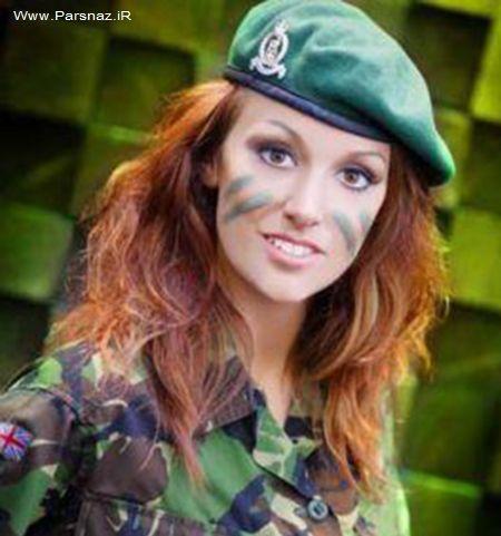 www.parsnaz.ir - مدل زن معروف انگلیسی در عراق می جنگد + عکس