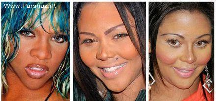 عکس های زنانی که بیش از چند عمل زیبایی انجام دادن