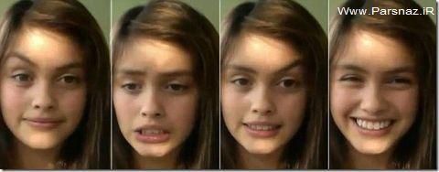 دختر زیبایی که با اَبروی خود میرقصد + عکس