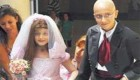 مراسم غم انگیز ازدواج دختر ۸ ساله سرطانی + عکس