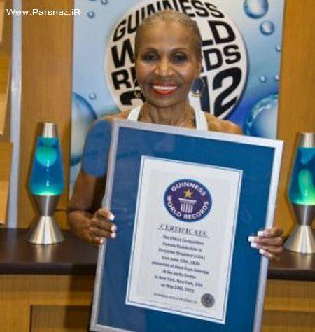 مسن ترین زن بدنساز جهان با ۷۴ سال سن + عکس