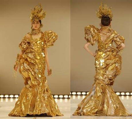 مشهورترین دختر بازیگر ژاپن در گرانترین لباس! + عکس