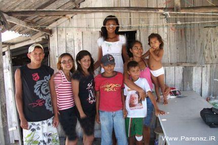 بلندترین دختر جهان در برزیل + عکس