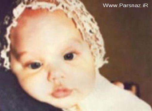 www.parsnaz.ir - عکس های کمیاب از کودکی و نوزادی آنجلینا جولی
