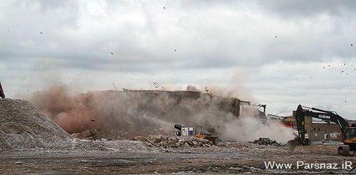 دختری با انفجار یک ساختمان انتقام پدرش را گرفت + عکس