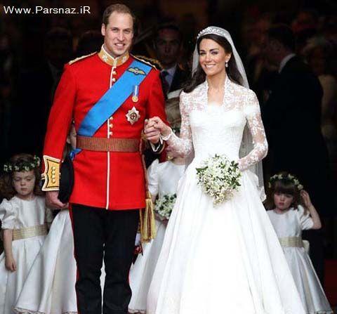 رقابت لباس عروس کیت میدلتون و مشعل المپیک + عکس