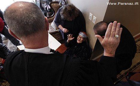 زن عراقی 111 ساله موفق به دریافت اقامت دائم آمریکا شد