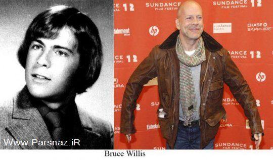عکس های از مقایسه چهره بازیگران و هنرمندان مشهور جهان