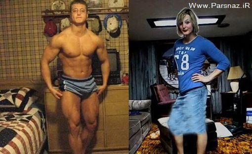 عکس هایی از قهرمان پرورش اندام که تغییر جنسیت داد