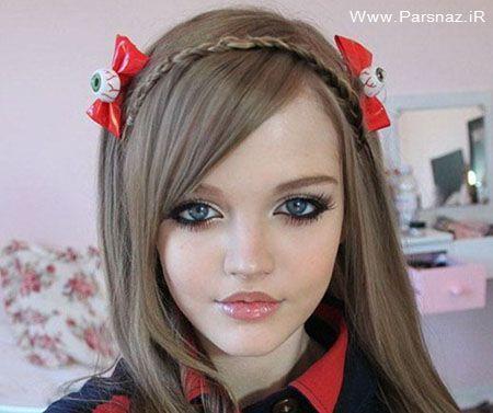 عکس های زیباترین و جذاب ترین دختر جهان شبیه به عروسک