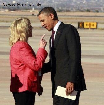 رییس جمهور آمریکا با فرماندار زن آریزونا درگیر شد + عکس