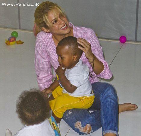حضور خواننده معروف زن در خانه کودکان بی سرپرست +عکس