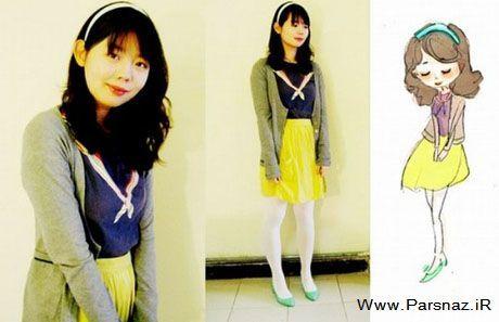 دختری که خود را شبیه شخصیت های کارتونی میکند +عکس