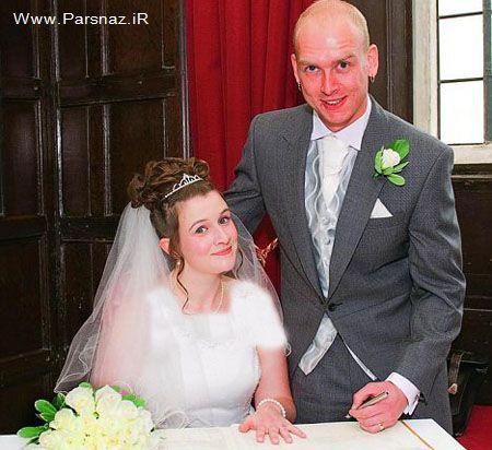 عشق واقعی را از این عروس و داماد شجاع یاد بگیرید +عکس