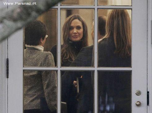 دیدار پرزیدنت اوباما با آنجلینا جولی و براد پیت + عکس