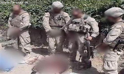 ادرار کردن سربازان آمریکایی بر اجساد افغانها! + عکس