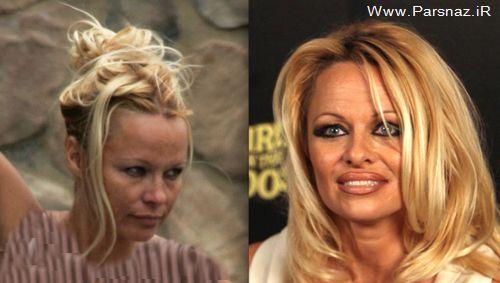 عکس های خواننده و بازیگران معروف زن بدون آرایش و با آرایش