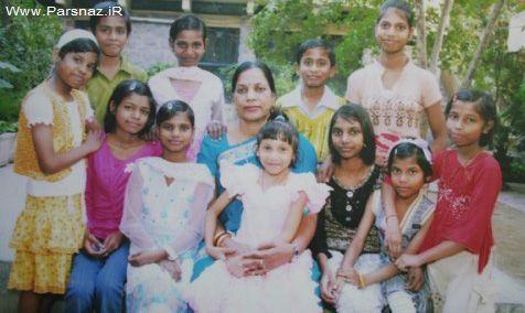 استخدام زنان مجرد هند به عنوان مادر بچه های یتیم! +عکس
