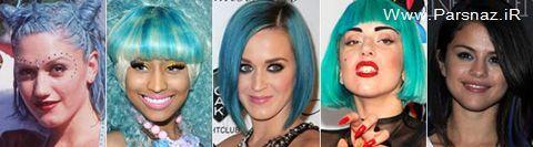 انتخاب بهترین زنان خواننده با موی آبی + عکس