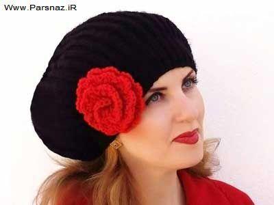 جدیدترین مدل شال و کلاه بافتنی دخترانه