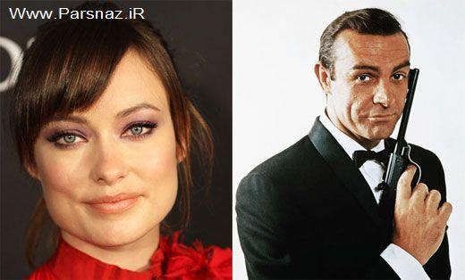 افتخار کردن بازیگر زن زیبای هالیوود به جیمز باند + عکس