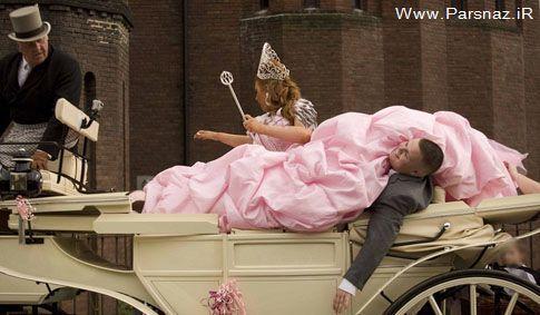 لباس عروس های عجیب و مشكل ساز برای عروس و داماد