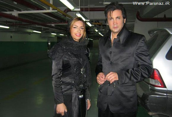 حسام نواب صفوی و همسرش در پارکینگ برج میلاد + عکس