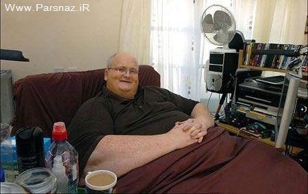 این مرد با 380 کیلو وزن چاق ترین انسان دنیا است + عکس