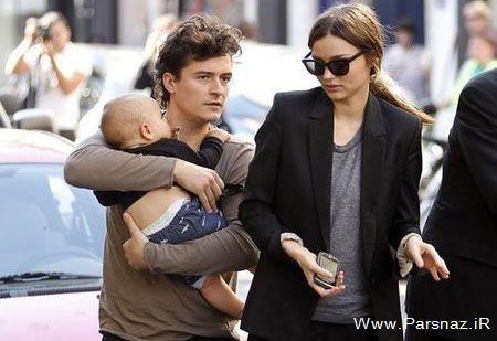 عکس جالب خانوادگی از زیباترین مانکن مشهور دنیا