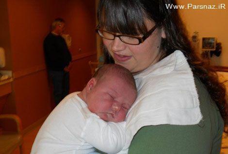 این زن رکورد دار به دنیا آوردن نوزادان تپل است + عکس