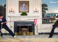 طناب کشی همسر اوباما در کاخ سفید!! + عکس