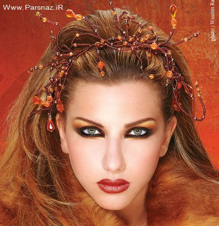 عکس هایی از مدل های جدید آرایش صورت و مو