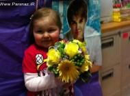 ملاقات جاستین بیبر با دختر شش ساله سرطانی + عکس