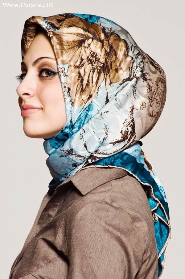 عکس هایی از مدل های جدید بستن روسری اسلامی