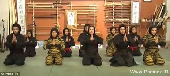 عکس های بسیار دیدنی از دیدار با نینجا های زن ایرانی