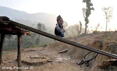 عکس های دیدنی از کوتاه ترین مرد جهان با ۵۳ سانتی متر قد