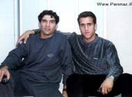 عکسی جالب و قدیمی علی کریمی و احمدرضا عابدزاده
