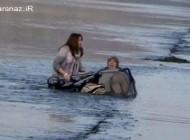 كشیده شدن مادر جوان و نوزادش به دریاچه + عکس