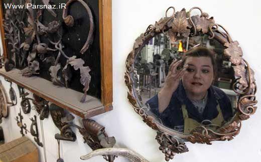 این دختر 29 ساله به زن آهنی معروف شده است + عکس