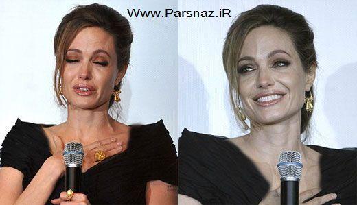 www.parsnaz.ir -  وقتی آنجلینا جولی با گریه هایش همه را شوکه میکند + عکس
