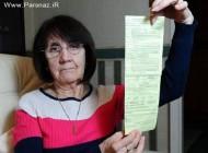 عکس العمل جالب یک خانم پس از جریمه 75 پوندی + عکس