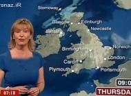 سوتی دیدنی خانم مجری حین پخش زنده اخبار هواشناسی