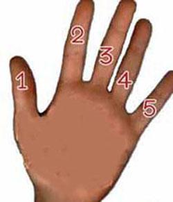 شخصیت شناسی جالب با پنج انگشت دست