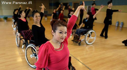 عکس های دیدنی حرکات موزون زنان ناتوان در رقص با ویلچیر