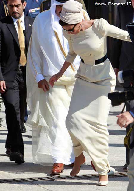 سه میلیون دلار هزینه زیبا سازی همسر امیر قطر + عکس